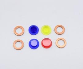 Farebné sklička kontroliek spínačky Pérák