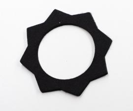 Filc pod víčko nádrže - čierny